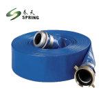 Pvc van 3 Duim van de hoge druk legt Opvouwbaar Blauw Versterkt Vlakke Slang