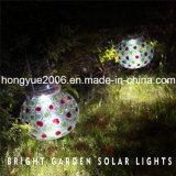 Solargarten-Lampe mit bunter Glasentwurfs-Solarglas-Licht