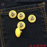 Custom Couro revestido de metal Botão Jeans para roupas