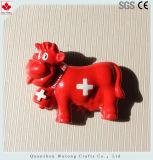 Магниты конструкции коровы магнита холодильника 3D швейцарской смолаы деталей сувенира изготовленный на заказ