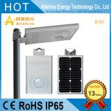 8W 태양 램프 도로 점화 보도 LED 가로등