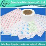 Serviette hygiénique libération Munafcturer papier imprimé Usine de papier de libération