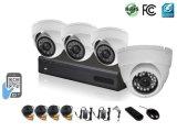 cámaras de seguridad del CCTV del canal del kit 4 de 720p Ahd DVR