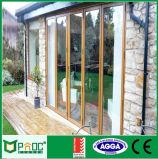 Portello Bifold di alluminio/portelli esterni di Bifolding del balcone