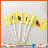 Im Freienhandmarkierungsfahne mit Plastikpolen