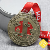 Cycle de haute qualité personnalisée Sports Nom d'activité arrêtés Médaille vierge