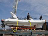 Liya gonflable de luxe de voile de bateau de fibre Cruiser