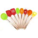 Подгонянные типы цвета пластичных варя установленных изделий кухни с ручкой силикона