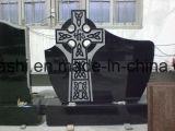 Pietra tombale nera cinese del granito di Shangxi per i memoriali