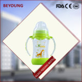 La bottiglia di bambino termoresistente di cristallo con BPA libera