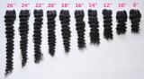 モンゴルの小売商(等級9A)のための深く巻き毛の加工されていないバージンの毛