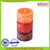 Duftende überlagerte Farben-rustikale Oberflächenpfosten-Kerzen mit Smeta Report