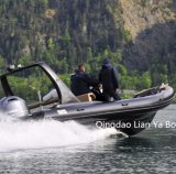 Ce de touristes de bateau de côte de bateau de luxe de yacht de Liya 6.6meter reconnu