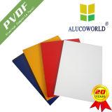 Panneau composé en aluminium de feuille d'ACP de modèle d'Alucoworld PVDF