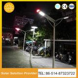 Eficiência elevada toda em luzes de uma rua solares da lâmpada