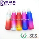 la botella de perfume de cristal 10ml con la bola de rodillo para el océano Ombre coloreó