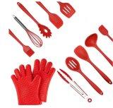 台所道具は鍋、鍋Cooking&Bakingのための道具ホールダーが付いている部分のシリコーンの炊事用具のセット台所工具セットをセットした11