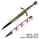 Decoratie 40cm van het Huis van het Zwaard van de Ridder van het vrijmetselaars- Zwaard Middeleeuwse