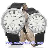 남녀 공통을%s 가진 합금 가죽 시계 승진 우연한 시계 (WY-1083GB)