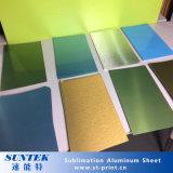 Sublilmation cubrió las hojas de aluminio en blanco de la impresión