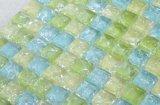 Mozaïek van het Glas van de Barst van het Ijs van Deo van de badkamers het Blauwe en Groene