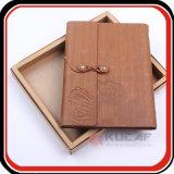 Cuaderno de encargo del diario de la cubierta del cuero del rectángulo de regalo