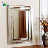 De houten Zilveren Spiegel van de Spiegel van de Muur Decoratieve Frame