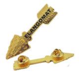 Pinos chapeados ouro personalizados do Lapel da forma da seta