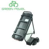 Greenpedel 36V 48V는 선반 유형 18650 세포 전기 자전거 리튬 건전지를 역행시킨다