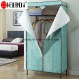 Guardaroba d'angolo moderno della camera da letto di disegno DIY della mobilia con il coperchio non tessuto