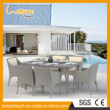Wicker 옥외 Weaving Dining Set 정원 Rattan Leather Chair Table Modern Hotel 또는 Home 안뜰 Furniture