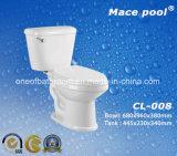 Toilettes en deux pièces populaires de matériau en céramique (CL-008)