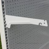Le panneau à simple face de trou accroche l'étagère/crémaillère de supermarché de présentoir en métal