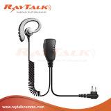 Gancho de leva del oído de la C-Dimensión de una variable con el micrófono en línea del Ptt para Mototrbo Gp328plus