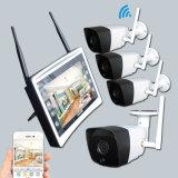 4CH 720p無線NVRキットIRの夜間視界のWiFi HDのホームビデオの保安用カメラシステムLCD