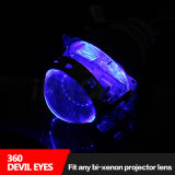 All Car Projector Headlight Color White Red Blue Green Yellow를 위한 악마 Eyes Fit