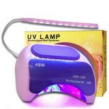 Gel de eléctrico de alta calidad de curado polaco 48W de la luz de las uñas pelo