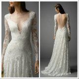Мантия a просто шнурка Bridal - линия Backless платье венчания Lb1804 пляжа