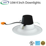 UL ES 알루미늄 Dimmable 10W 4 인치 개조 LED Downlight