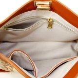 De Vrouwen van de manier doen de Nieuwe Handtas van de Schouder van het Leer van het Ontwerp Echte met Af:drukken in zakken