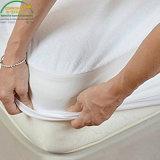 Premium 100% resistente al agua de superficie de Felpa de algodón transpirable, prueba de ácaros del polvo protector de colchón king size