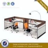 Poste de travail à extrémité élevé de partition de bureau de mélamine de bureau (HX-TN229)