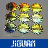 Feuille argentée de collant d'hologramme d'Anti-Article truqué d'or