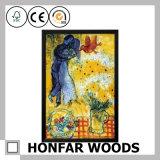 Peinture féerique romantique européenne d'art avec le bâti en bois