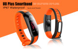 心拍数のモニタを持つスマートな腕時計バンドBluetoothの適性の追跡者