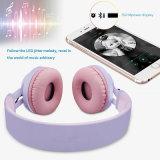 Шлемофон СИД светлый беспроволочный складной стерео с микрофоном и регулятором звука для iPad PC/iPhone/TV/