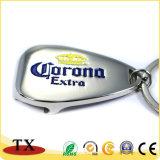O logotipo personalizado abridor de garrafa de metal com porta-chaves