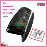 Chave remota esperta para auto Hyundai Fsk 433MHz com 8A as teclas 3V036 da microplaqueta 4