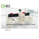 나무로 되는 사무용 가구 모듈 사무실 센터 분할 책상 Yf-G0402
