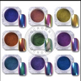 Chamäleon-nagelt mehrfaches Farben-Verschiebung-Spiegel-Gel Pigment